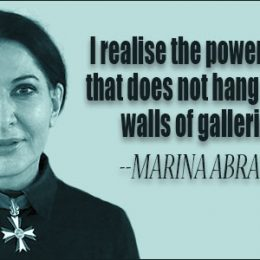 Performance artists Marina Abramovic